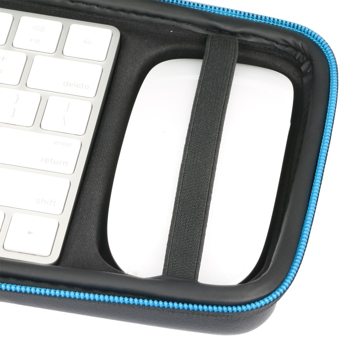 Baval Hard Case Portable Bag Replacement for Apple Magic Wireless Keyboard  / Apple Magic Mouse 2 - Black, B0762KZLFS