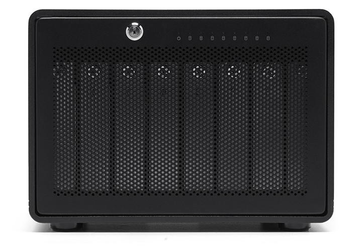 96TB OWC ThunderBay 8 Thunderbolt 3 RAID Enterprise Drive Storage Solution With SoftRAID XT, OWCTB38SRE096