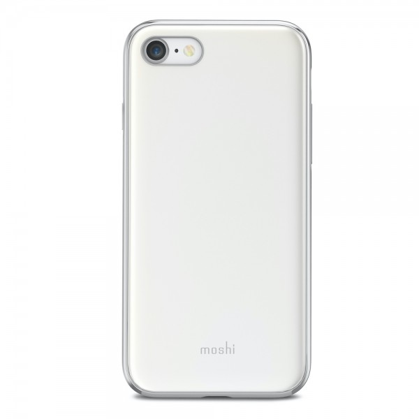 Moshi iGlaze for iPhone 8/7 (New style) - Pearl White, 99MO088101