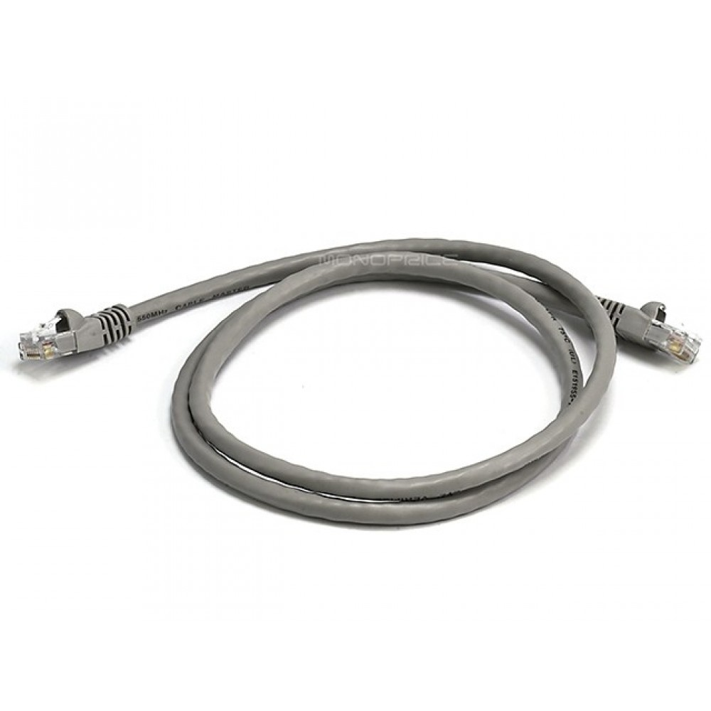 0.9m 24AWG Cat6 550MHz UTP Ethernet Bare Copper Network Cable - Gray, ETH-2294