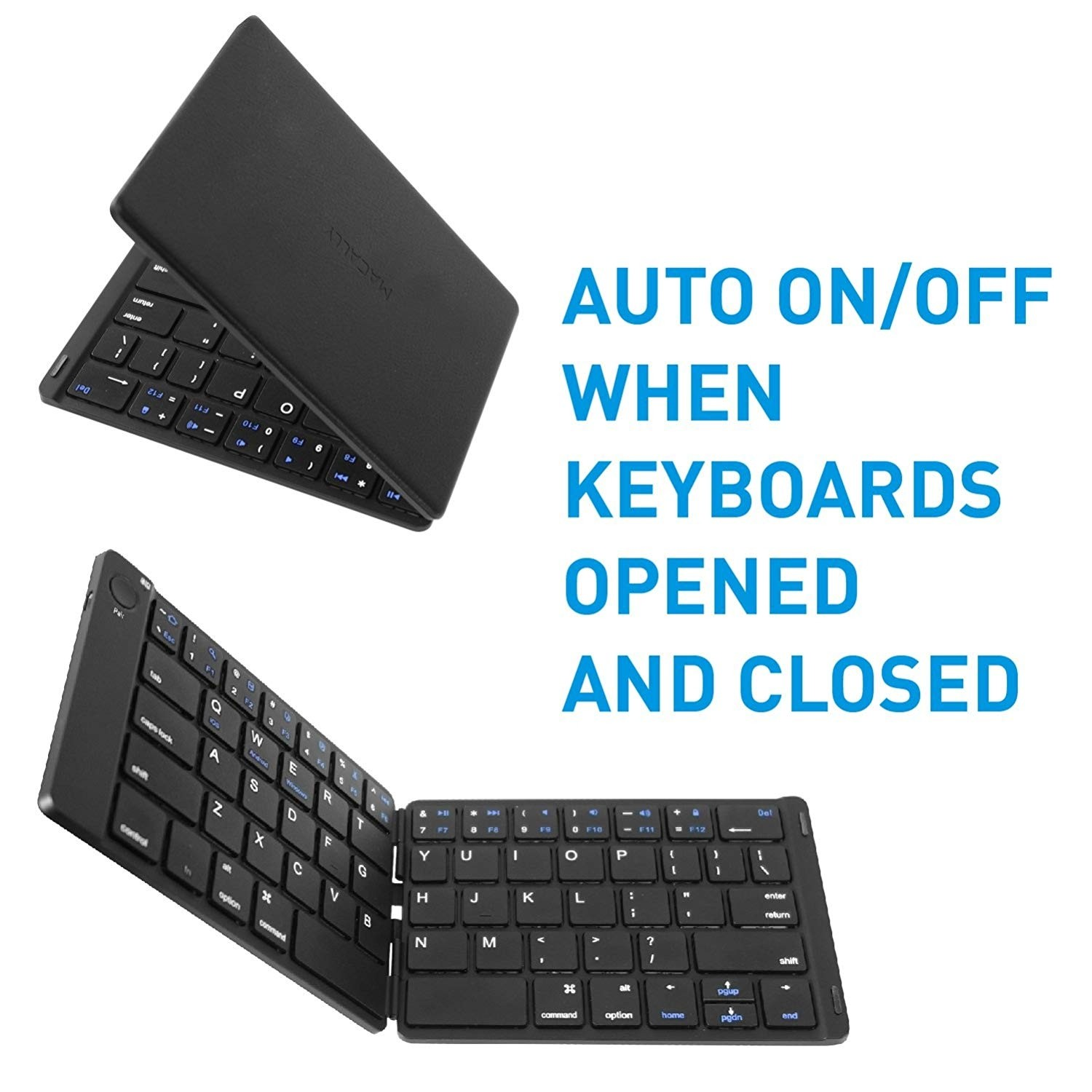 **DISCONTINUED** Macally Universal Foldable Bluetooth Keyboard Works with Apple iPhone/iPad iOS, Android Tablets & Smartphones, Windows Laptop Computers, Smart TVs, etc., PMOBILEKEY