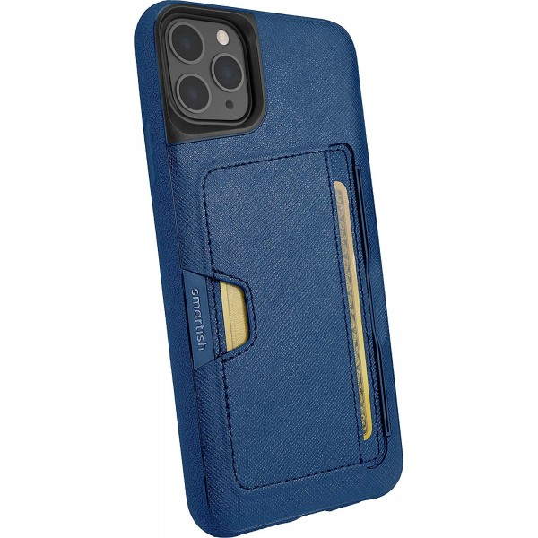 Smartish iPhone 11 Pro Max Wallet Case Vol. 2 - Credit Card Holder (Silk) - Blues on The Green, Q19P-TEAL