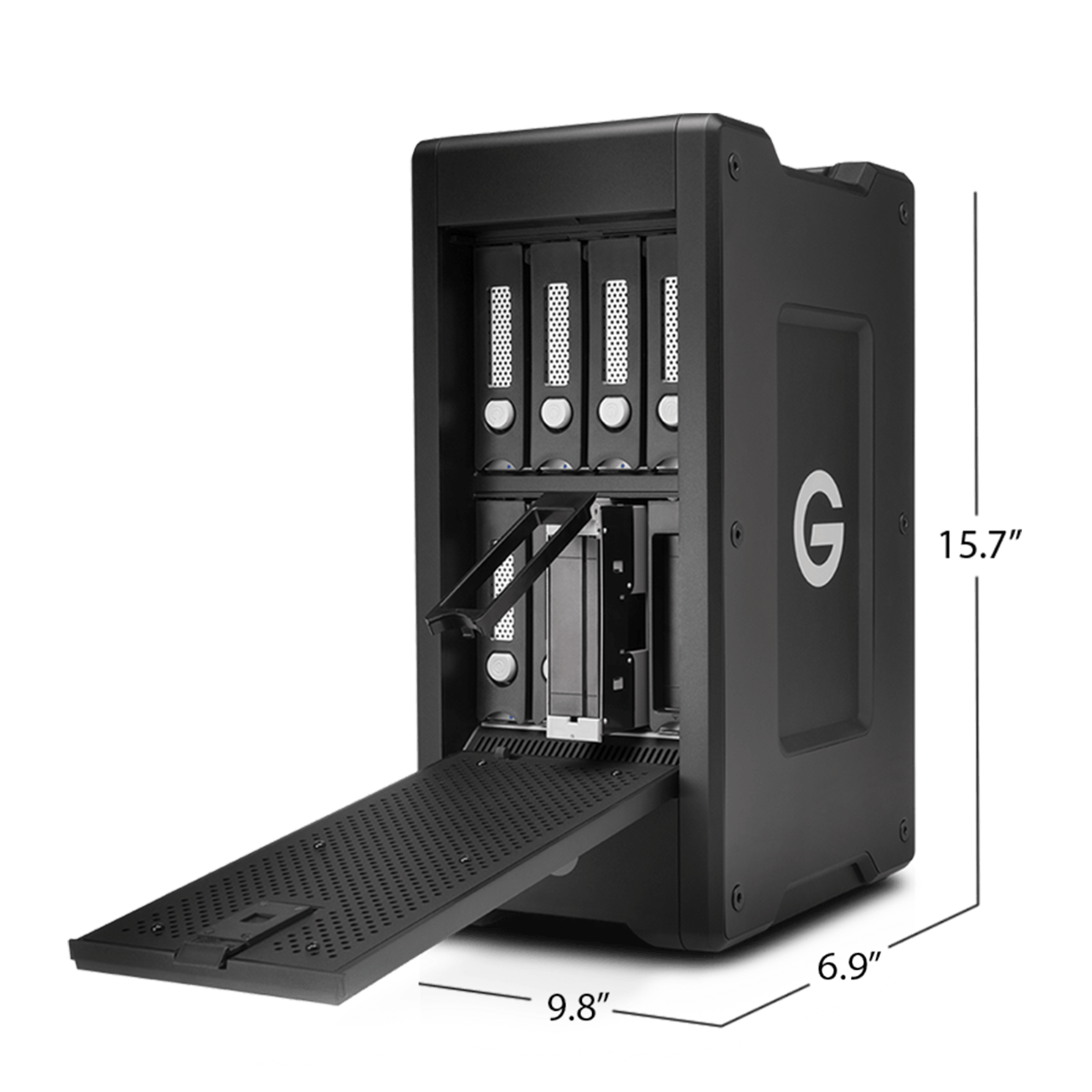 60TB G-Technology G-SPEED Shuttle XL (6 x 10TB) 8-Bay Thunderbolt 2 RAID Array with Two ev Bay Adapters , GT0G05044