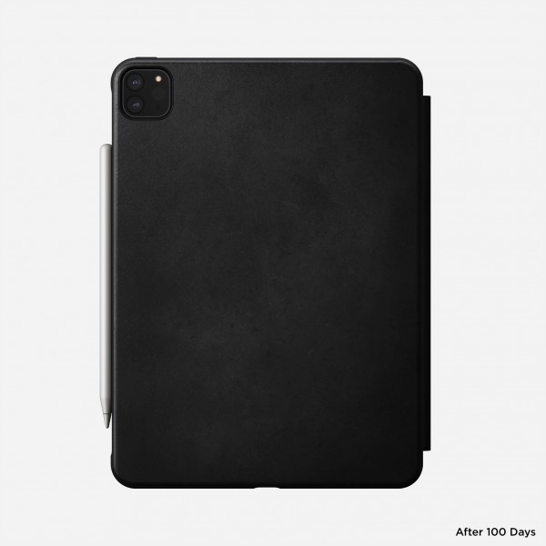 Nomad - Rugged Folio - iPad Pro 11 (2nd Gen) - Leather - Black, NM2IB10H00