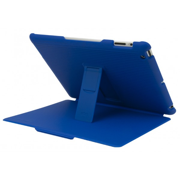 STM Grip Hard Folio-Style Case, Stand and Intelligent Screen Cover for iPad 2/3/4th Gen - Royal Blue, DIS-GRIPIP3RBLU