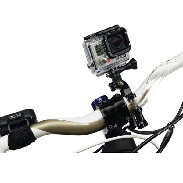 Bicycle Handlebar / Seatpost Clamp with Three-way Adjustable Pivot Arm for GoPro Hero 4/3+/3/2/1, GOPRO-59851