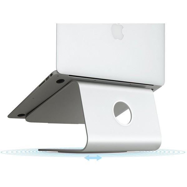 Rain Design mStand360 Laptop Stand with Swivel Base - Silver, MSTAND360