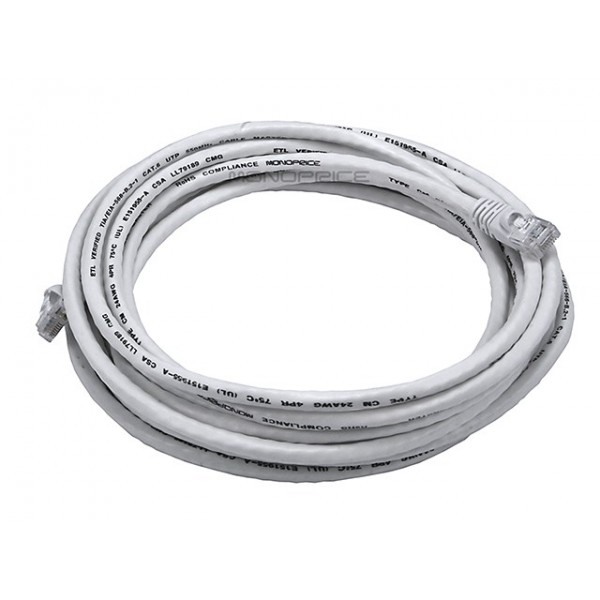 4.2m 24AWG Cat6 550MHz UTP Ethernet Bare Copper Network Cable - White, ETH-2313