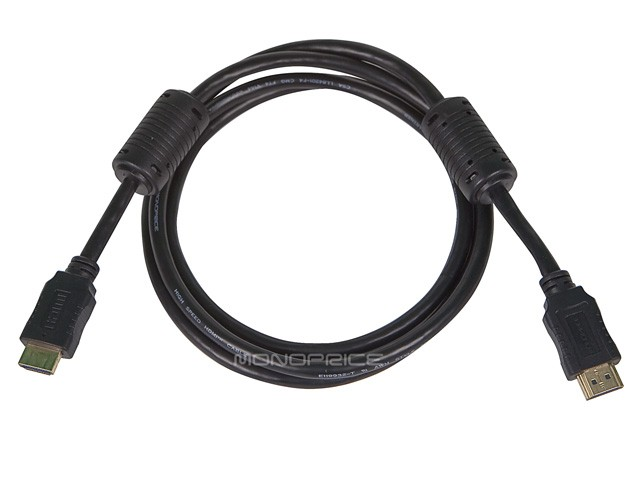 Monoprice 5ft 28AWG High Speed HDMI Cable w/Ferrite Cores - Black - 1.5 metres, DIS-HDMICAB-5FT-4957