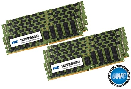 192GB (12 x 16GB) PC23400 DDR4 ECC 2933MHz 288-pin RDIMM Memory Upgrade Kit, OWC2933R1M192
