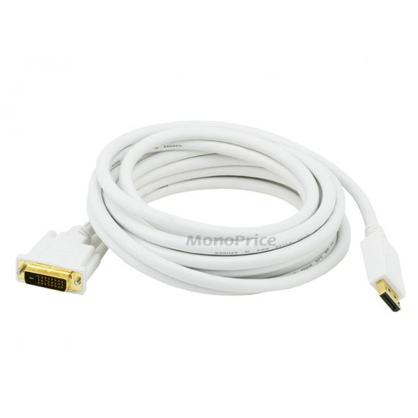 4.5m 28AWG DisplayPort to DVI Cable - White, DP-DVI-6017