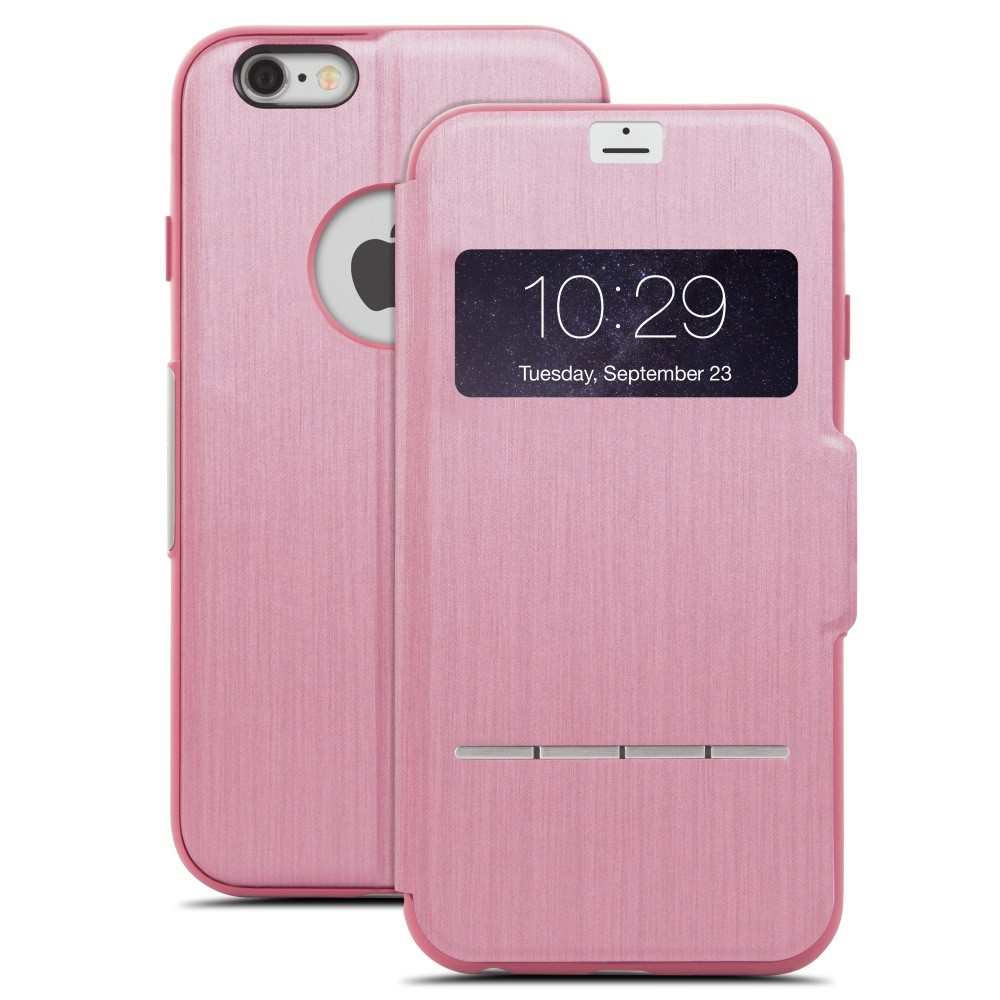 Moshi - SenseCover Touch Sensitive Hard Cover for iPhone 6 Plus/6S Plus - Rose Pink, IPH6+SEN-PK