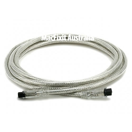 NewerTech 9 PIN/ 9PIN FireWire 800 - FireWire 800 Cable, 3m, Clear
