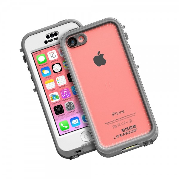 LifeProof Waterproof Nuud Case for iPhone 5C - White/Clear, *5C-NUUD-WH