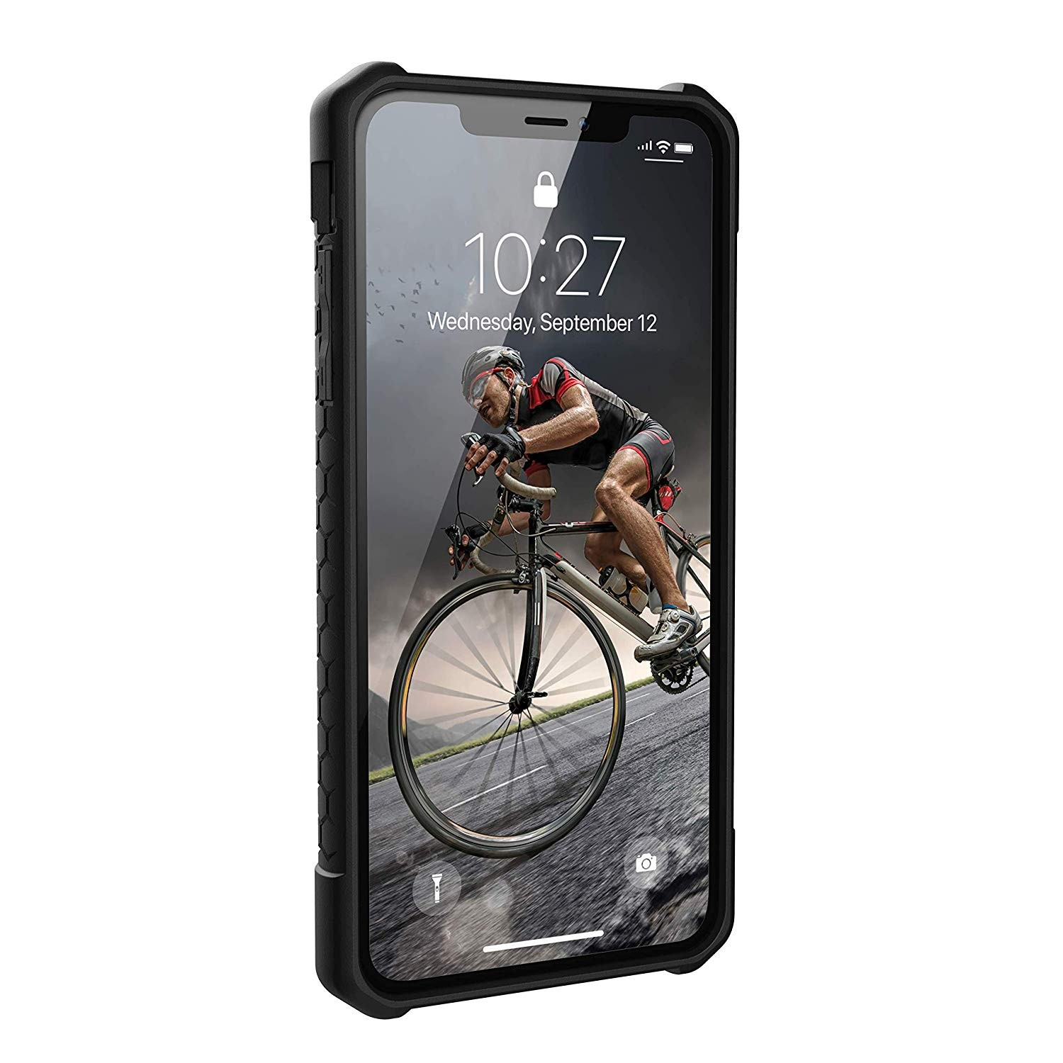 Urban Armor Gear iPhone Xs Max Pathfinder Feather-Light Rugged Military Drop Tested iPhone Case - Black, 111107114040