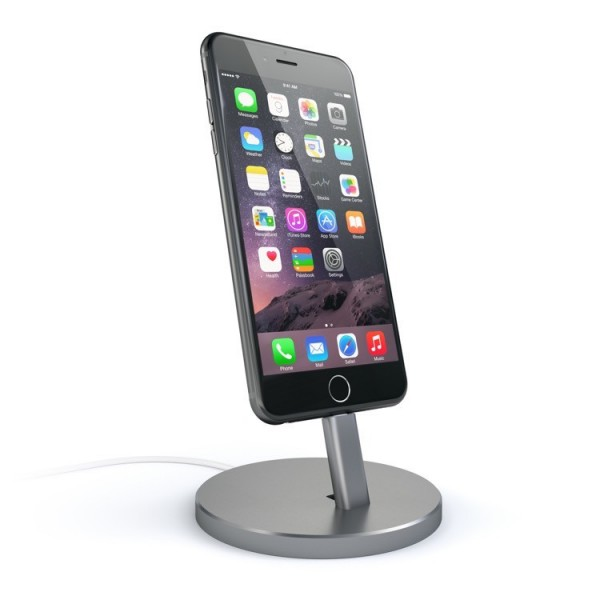 Satechi Aluminum Lightning Charging Stand - Space Gray, ST-AIPDM