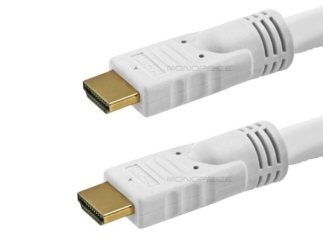 7.6m 24AWG CL2 Standard HDMI Cable - White, HDMICAB-25FT-4032