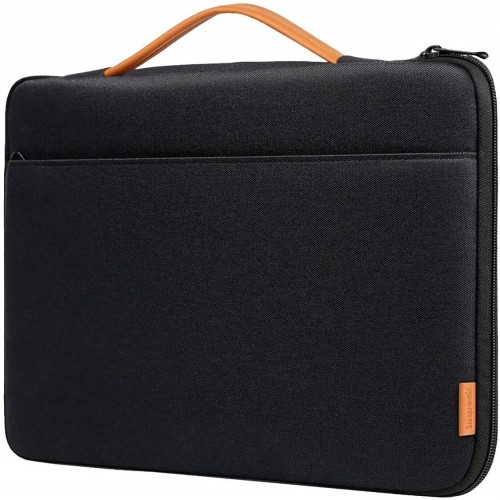 Inateck Laptop Sleeve Shockproof Water-Resistant Case Compatible 16'' MacBook Pro, 15'' MacBook Pro (A1990/A1707), 15.4'' MacBook Pro 2013-2015, 14'' Laptops Briefcase Bag - Black