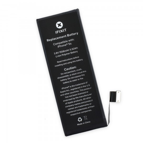 iPhone 5S Battery Replacement by iFixit - Part and Adhesive, IF124-002-1