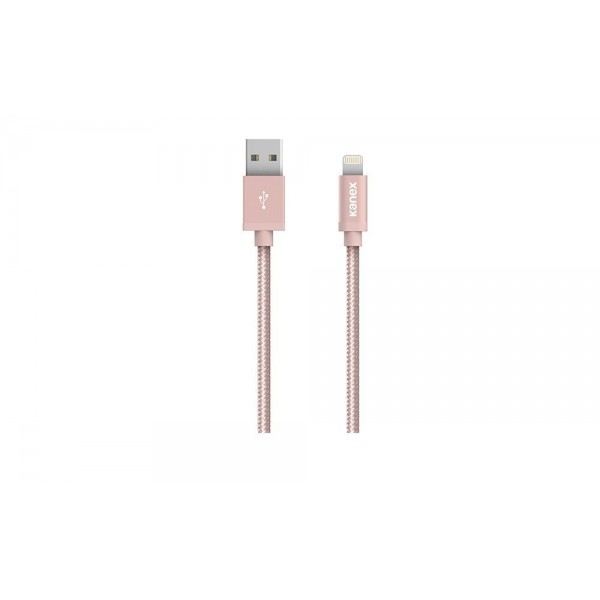 Kanex Premium DuraBraid (TM) Lightning ChargeSync Cable,  3M - Rose Gold, K157-1029-RG9F
