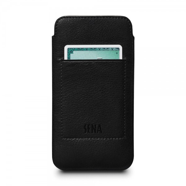 Sena Ultraslim Wallet Leather Sleeve Pouch for iPhone X/XS - Black, SFD316GBUS-50R