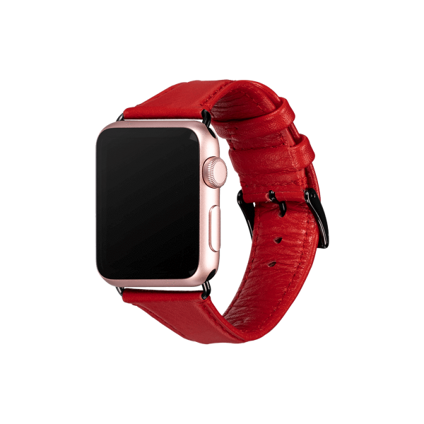 Sena - Kyle Leather Apple Watch Band 38/40mm - Red, SXD01403NPUS