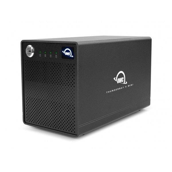 4.0TB OWC ThunderBay 4 mini Four-Drive SSD External Thunderbolt 3 Storage Solution, OWCTB3QMLRS04TP