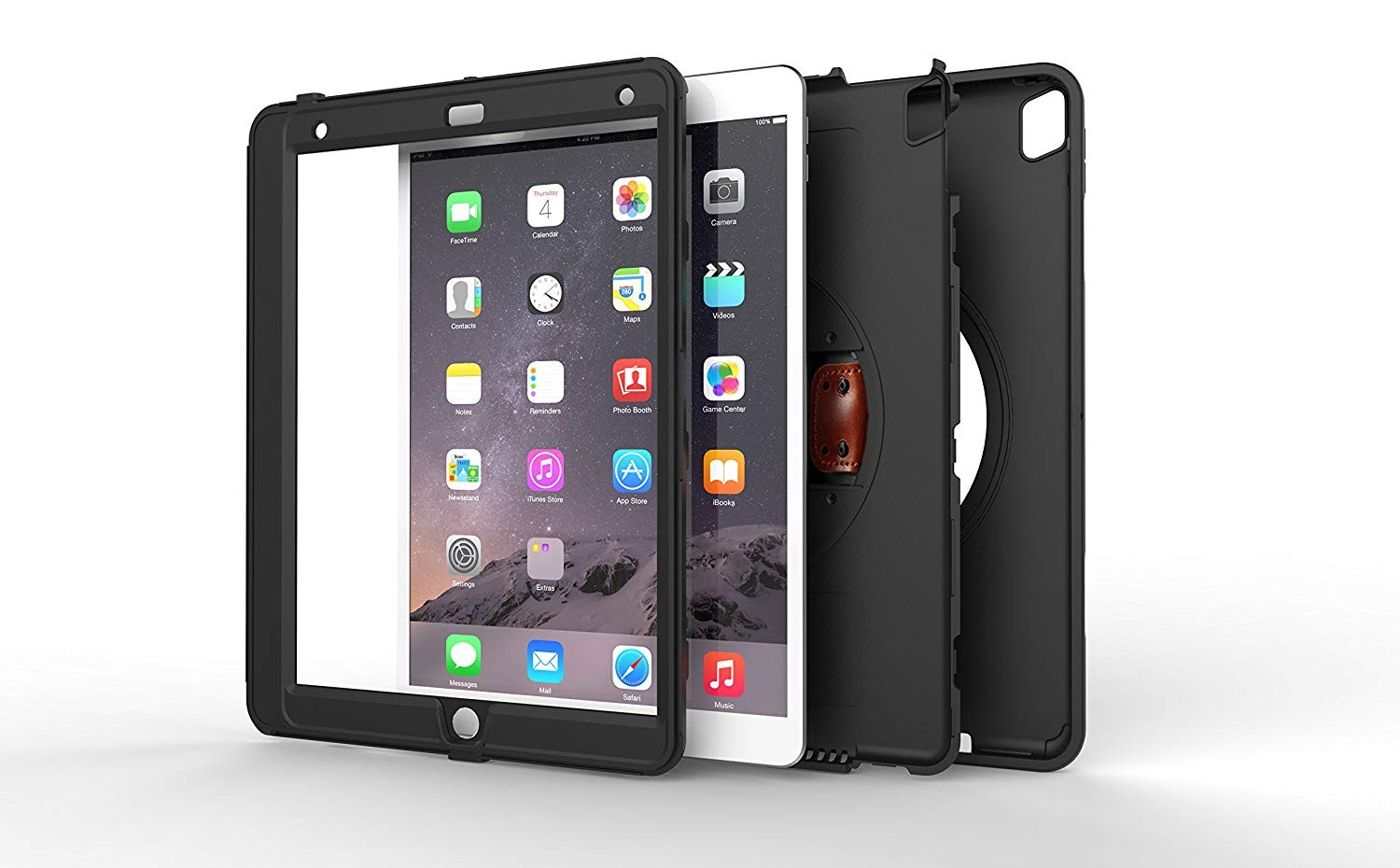 New Trent iPad Pro Case / iPad Air 3 - Gladius Pro 10.5 Inch Case, Full-body Rugged Protective Case with 360-Degree Rotatable Hand Strap, Built-in Screen Protector, Kickstand - Apple Pencil Compartment, NT615GR