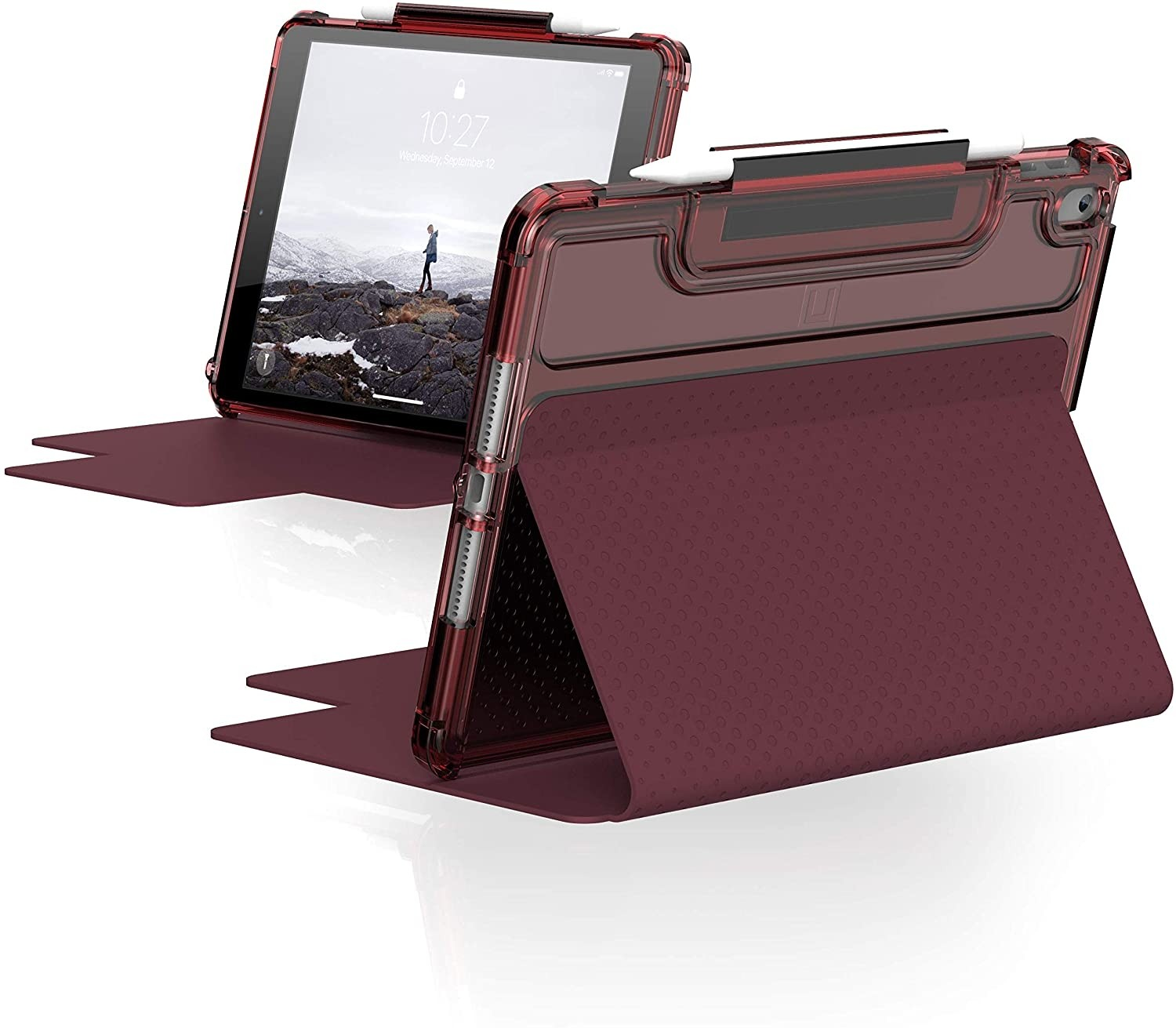 "UAG Lucent iPad 10.2"" (8th gen, 2020) Case Aubergine / Dusty Rose, 12191N314748"