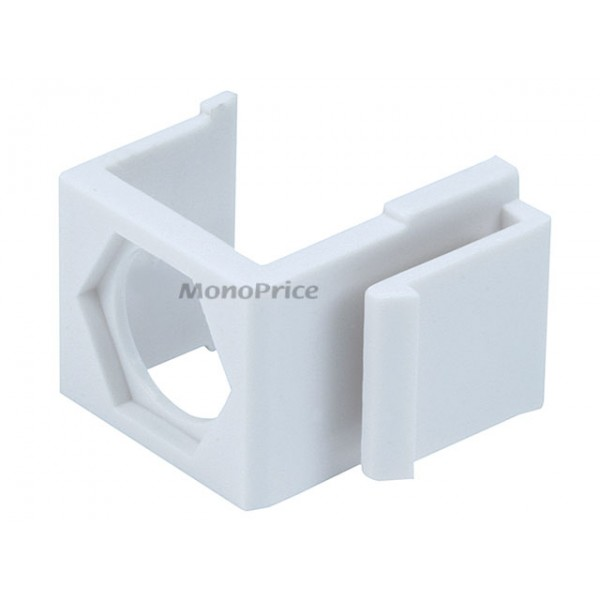 Blank Insert for F type connector - 10pcs/Pack (White), INS-6559