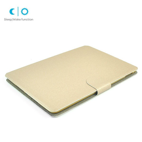 Flip Stand Cover Case with Card Slot for iPad Air 2 - Gold, IPD6-FLIP-66354