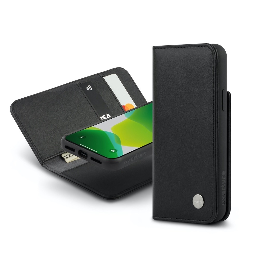 Moshi Overture Case with Detachable Magnetic Wallet for iPhone 11 Pro - Black, 99MO091012
