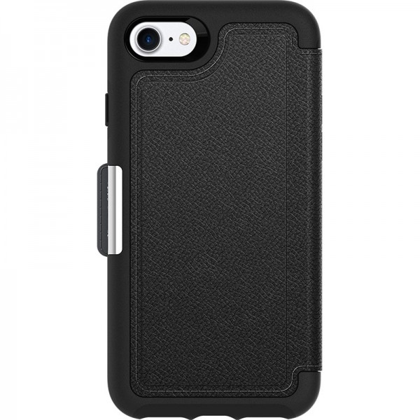 OtterBox Strada Series Folio Case for iPhone 8/7/SE (Gen 2) - Black, 77-65063