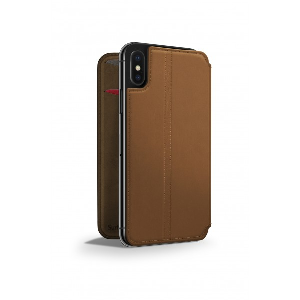 Twelve South SurfacePad for iPhone Xs (ONLY) - Cognac, 12-1830