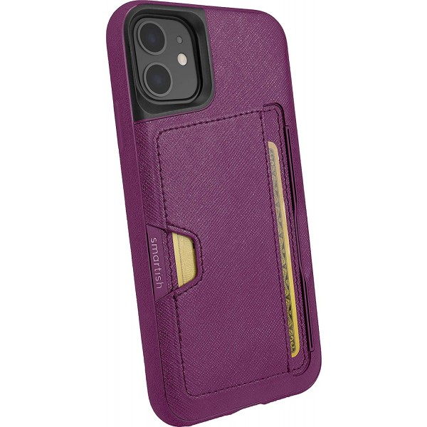 Smartish iPhone 11 Wallet Case Vol. 2 - Credit Card Holder (Silk) - Purple Reign, Q19M-VIOLET