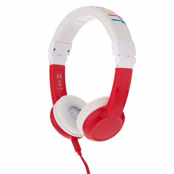 Onanoff BuddyPhones Explore Foldable with Mic - Red, BP-EX-FD-RED-01-K