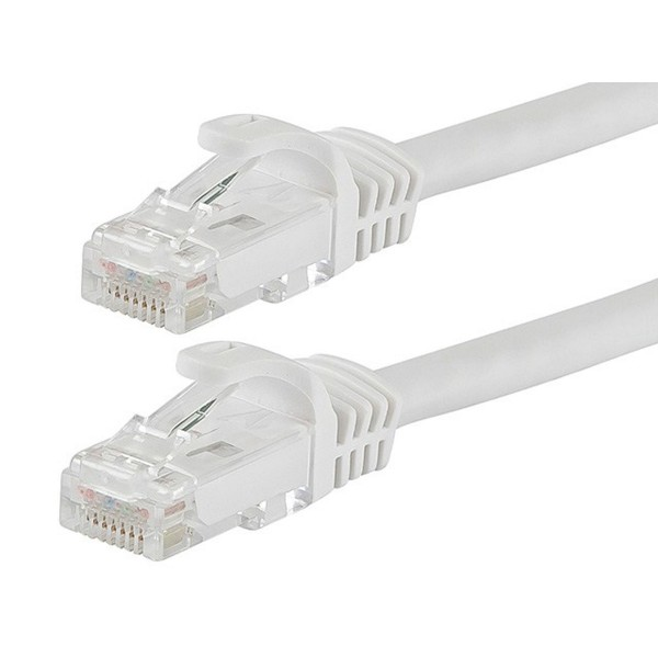 FLEXboot Series Cat5e 24AWG UTP Ethernet Network Patch Cable 30ft White, ETH-FB-11318