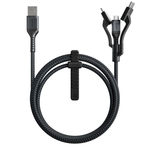 Nomad Rugged Universal Cable, USB C, Lighting, USB A, Micro USB - 1.5m