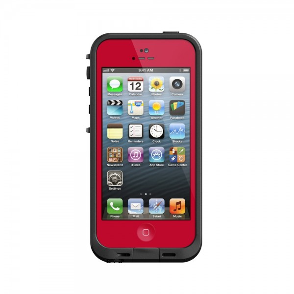 LifeProof Waterproof fre Case for iPhone 5 : Red, *LIF030