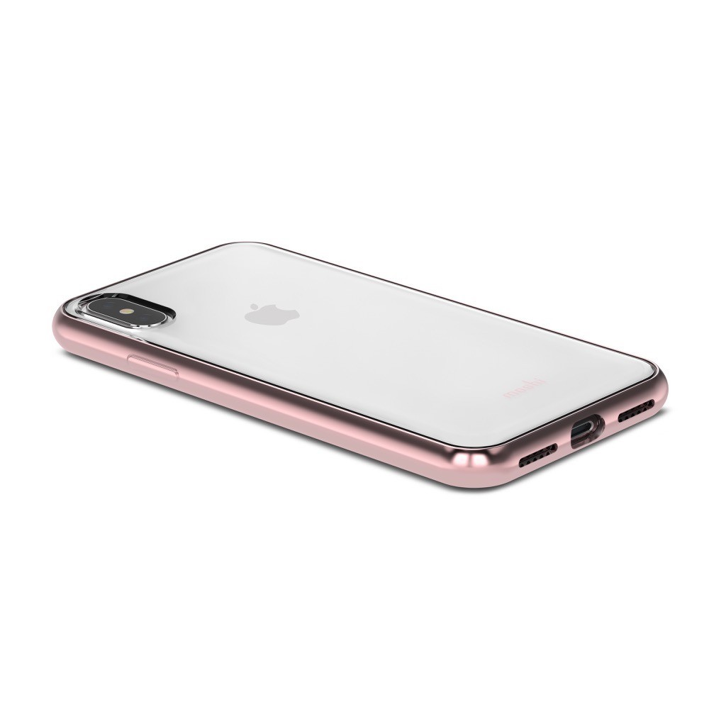 MOSHI Vitros for iPhone X/Xs Clear Protective Case - Orchid Pink, 99MO103251