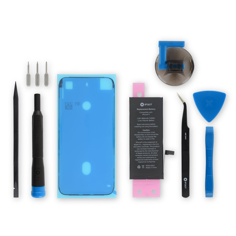 iFixit iPhone 7 Replacement Battery, New Fix Kit, IF332-005-11
