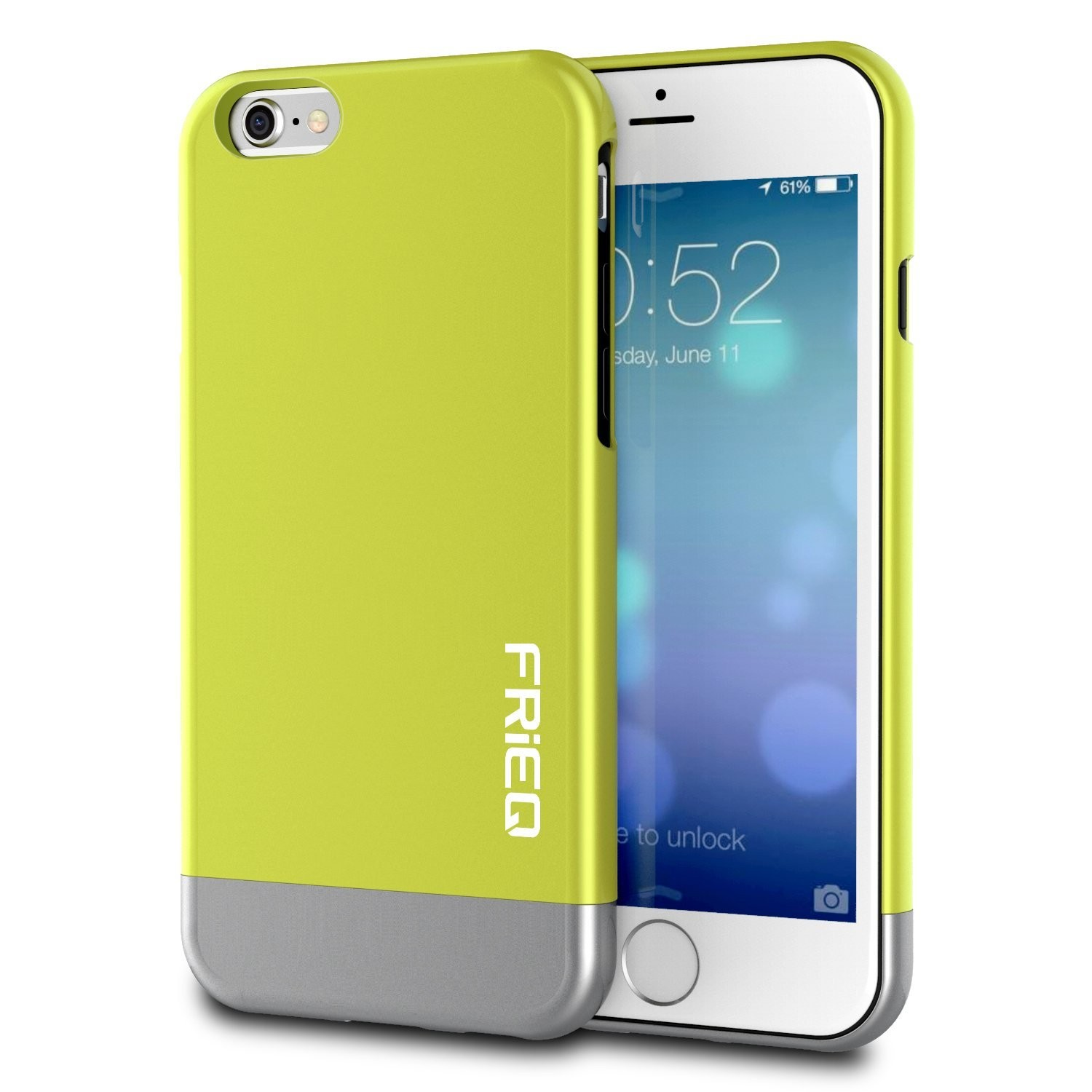 """iPhone 6 Case, FRiEQ Dual Layer Protection Slim Trendy Hard Case for Apple iPhone 6 (4.7"""") - Safe from Drops and Slips - Green, FR-DLP-GN"""