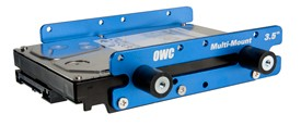 """OWC Multi-Mount: 3.5"""" to 5.25"""" Hard Drive adapter bracket set. Install a single 3.5"""" hard drive into the spare 5.25"""" drive bay on your Nehalem or Westmere Mac Pro"""