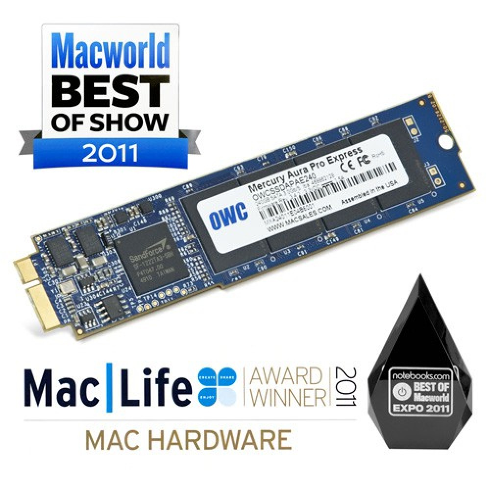 250GB OWC Aura Pro 6G Solid-State Drive for MacBook Air (2010-2011), OWCS3DAP116G250