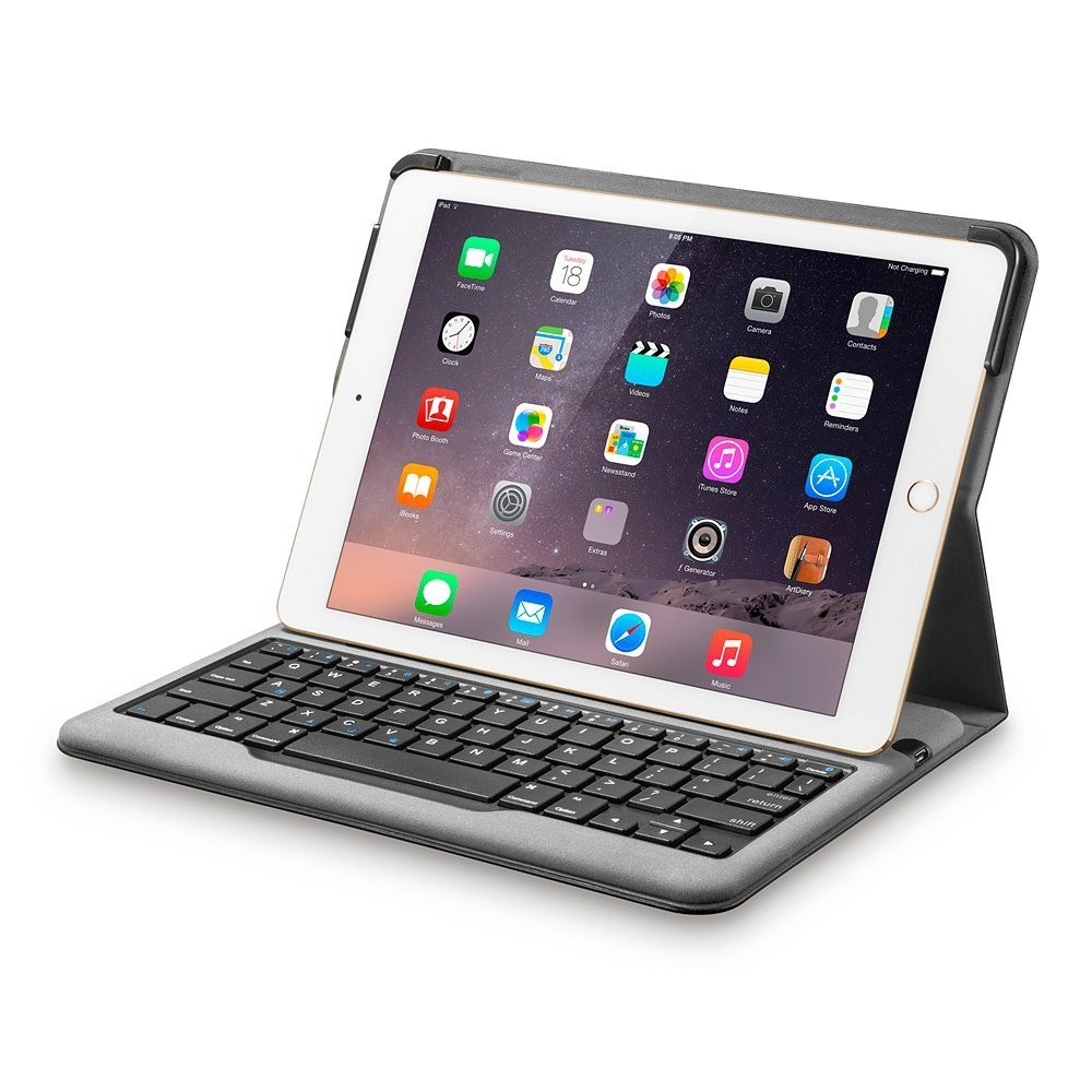 Anker Bluetooth Folio Keyboard Case for iPad Air 2 - Smart Case with Auto Sleep / Wake, Comfortable Keys and 6-Month Battery Life Between Charges, B00QF5MXFY