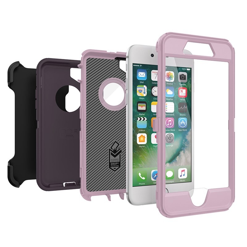 OtterBox Defender Series Case for iPhone 8 & iPhone 7 - Purple Nebula, 77-56605