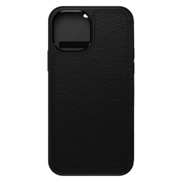 OtterBox Strada Series Case For iPhone 12/12 Pro - Shadow Black , 77-65420