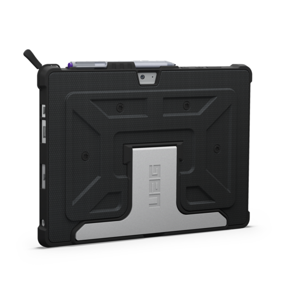 **OPEN BOX** Urban Armor Gear UAG Military Standard Folio Case for Microsoft Surface 3 (non Pro) - Black/Black, UAG-SURF3-BLK