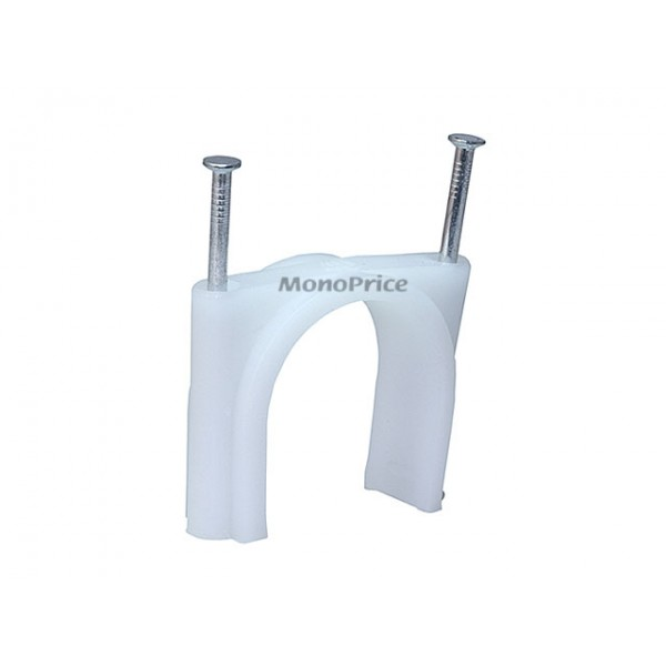 Circle Cable Clips With Steel Nail, 40mm, 50pcs/Pack, CLIPS-5837