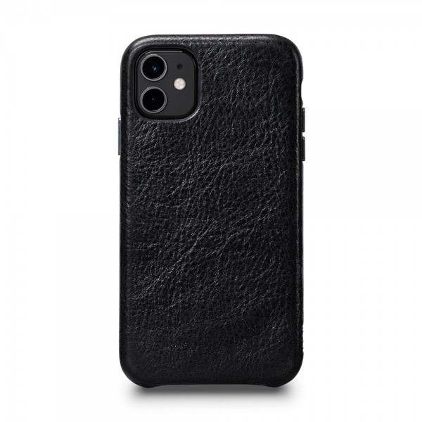 Sena LeatherSkin Leather Case for iPhone 11 - Black, SFD446NPUS